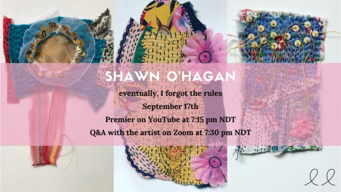 Shawn O'Hagan: eventually, I forgot the rules | Video Premier and Q&A September 17th, 7:15 pm