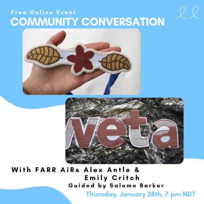 FARR Community Conversation. January 28th, 7 pm, over Zoom