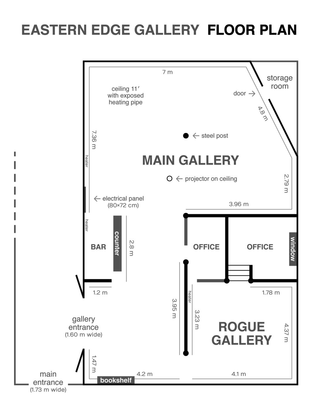 Eastern Edge Gallery Floor Plan 2018