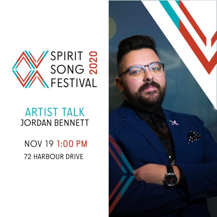 Artist Talk with Jordan Bennentt. November 19th, 1pm. Facebook Live